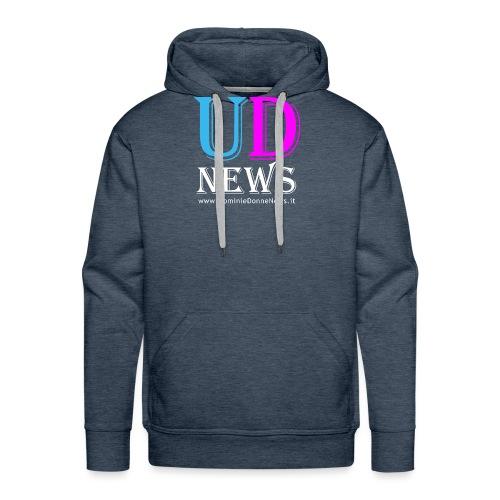 La maglietta di Uomini e Donne News scura - Felpa con cappuccio premium da uomo