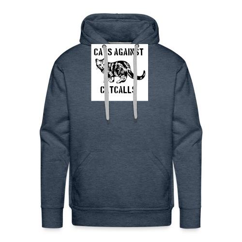 Cats against catcalls - Men's Premium Hoodie