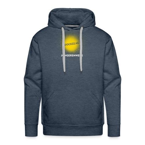 dockzz nl op gele verf jongerenwerk - Mannen Premium hoodie