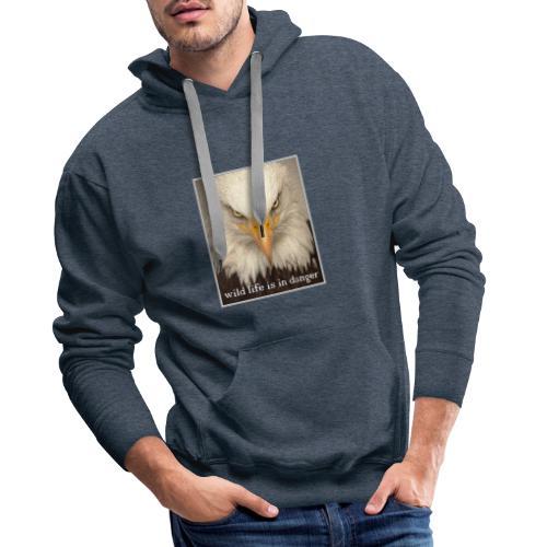 wild life is in danger shirt - Männer Premium Hoodie