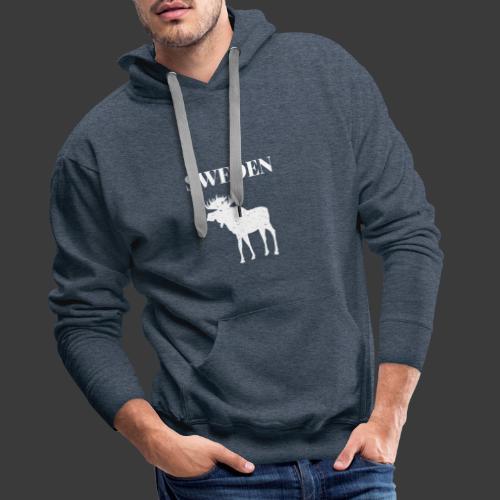 Sweden Moose Sverige - Männer Premium Hoodie