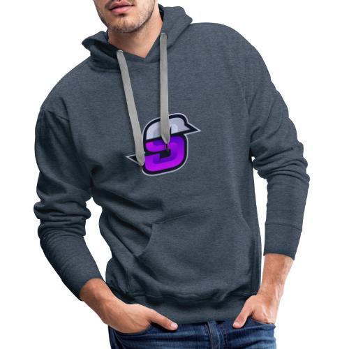 S navey 2 violet - Sweat-shirt à capuche Premium pour hommes