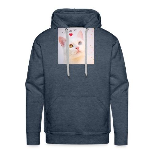 TROY CAT - Sudadera con capucha premium para hombre
