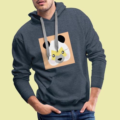 Amazing Super Panda with M mask! - Premium hettegenser for menn