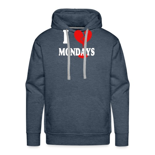 I hate Mondays (white) - Männer Premium Hoodie