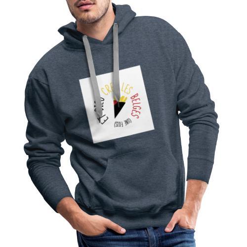 FRITES3 - Sweat-shirt à capuche Premium pour hommes