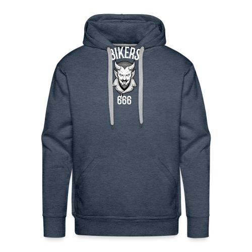 bikers 666 - Sweat-shirt à capuche Premium pour hommes
