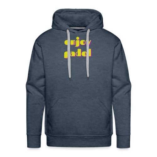 Padel enjoy - Sweat-shirt à capuche Premium pour hommes