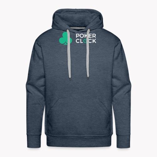 Poker Clock Logo - Männer Premium Hoodie