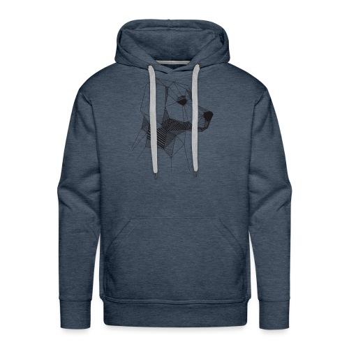 Golden Retriever Geometrisch Zwart - Mannen Premium hoodie