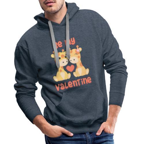 Be my valentine - Mannen Premium hoodie