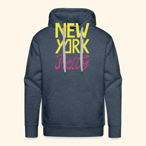NEW YORK Pretty - Männer Premium Hoodie