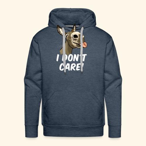 Ane I don't care! (texte blanc) - Sweat-shirt à capuche Premium pour hommes