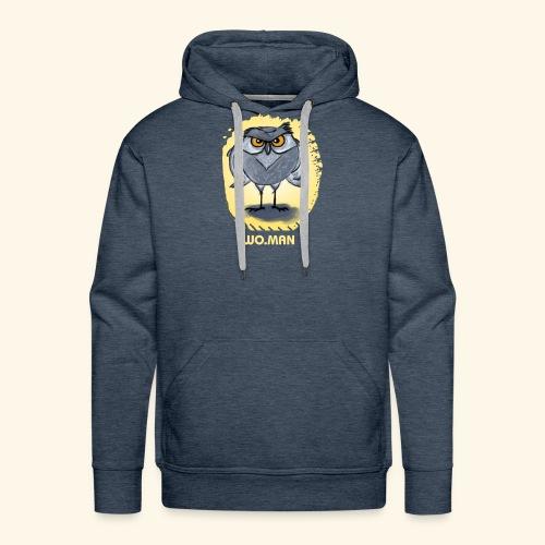 hibou wo.man design - Sweat-shirt à capuche Premium pour hommes