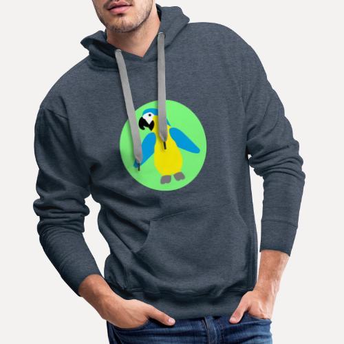 Yellow-breasted Macaw - Men's Premium Hoodie