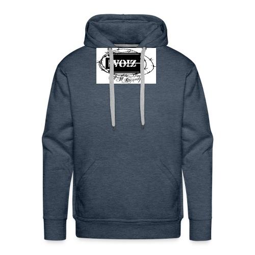 VOIZ weisses shirt - Männer Premium Hoodie