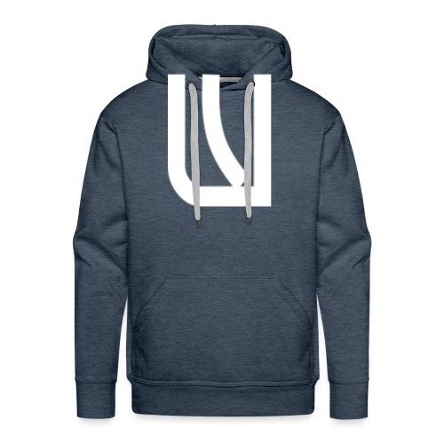 W Blanc - Sweat-shirt à capuche Premium pour hommes