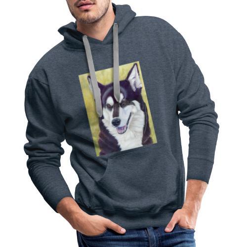 Siberian husky - Herre Premium hættetrøje