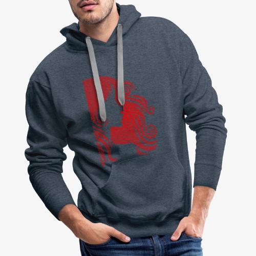 femme st valentin - Sweat-shirt à capuche Premium pour hommes