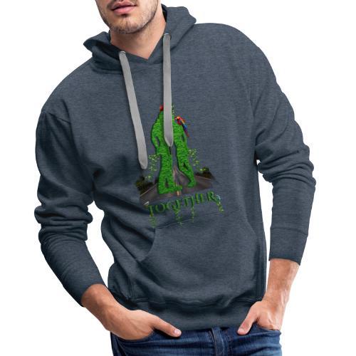 Together love nature by T-shirt chic et choc - Sweat-shirt à capuche Premium pour hommes