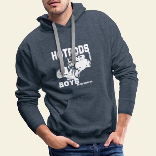 hotrod white - Herre Premium hættetrøje