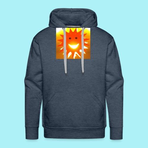Soleil Souriant - Sweat-shirt à capuche Premium pour hommes