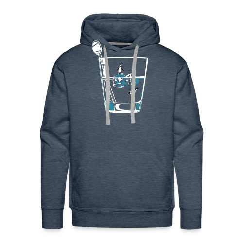 Penguins on the rocks - Men's Premium Hoodie