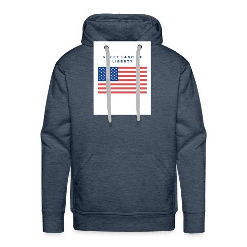 drapeau usa - Sweat-shirt à capuche Premium pour hommes