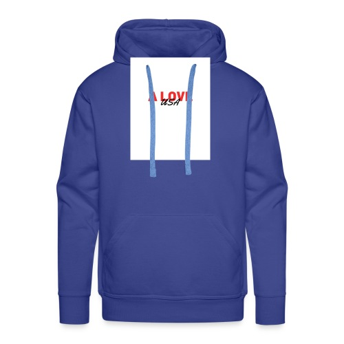 a love usa - Sweat-shirt à capuche Premium pour hommes