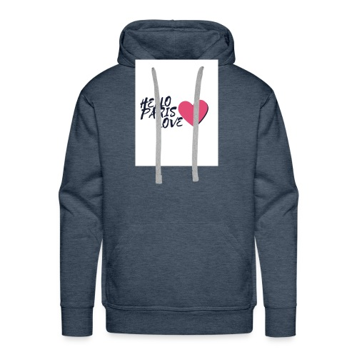 hello paris love 2 - Sweat-shirt à capuche Premium pour hommes