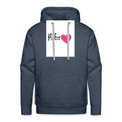 love paris 2 - Sweat-shirt à capuche Premium pour hommes