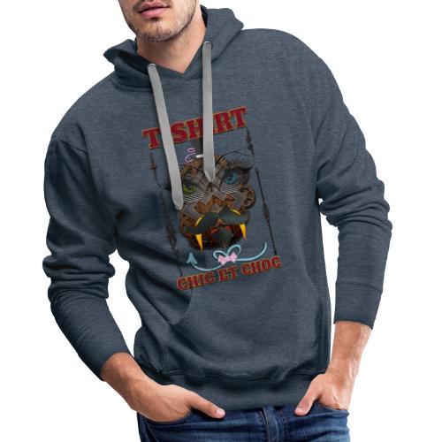 T-shirt chic et choc - Sweat-shirt à capuche Premium pour hommes
