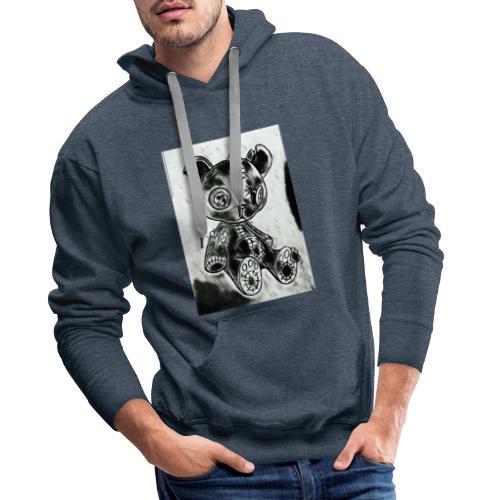 horror teddy - Mannen Premium hoodie