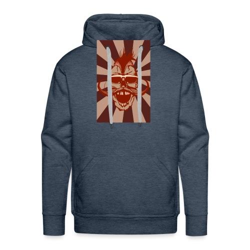 tete de mort crane hipster skull moustache design - Sweat-shirt à capuche Premium pour hommes