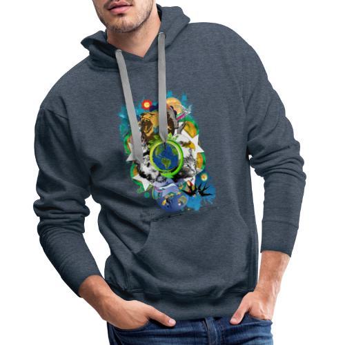 Mother Earth - black (us) -by T-shirt chic et choc - Sweat-shirt à capuche Premium pour hommes