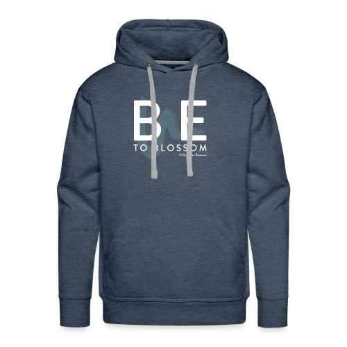 be to blossom swoosh (white) - Men's Premium Hoodie
