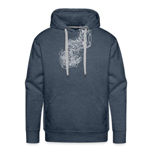 nx250 motorblok wit - Mannen Premium hoodie