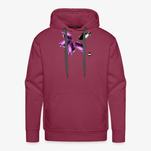 Sembran petali ma è l'aurora boreale - Felpa con cappuccio premium da uomo