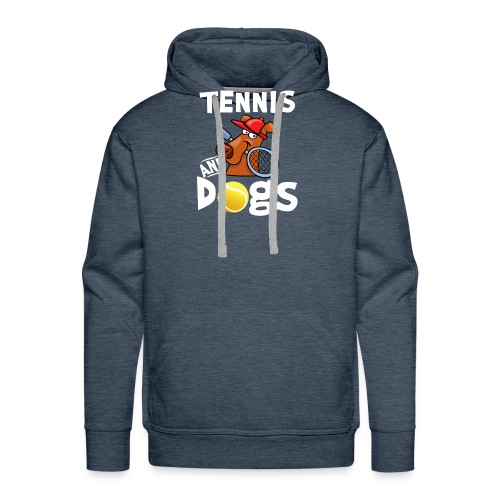 Tennis And Dogs Funny Sports Pets Animals Love - Männer Premium Hoodie