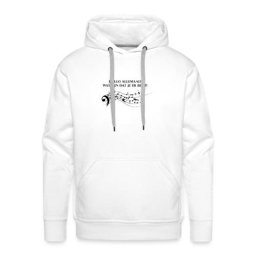 Hallo allemaal! - Mannen Premium hoodie