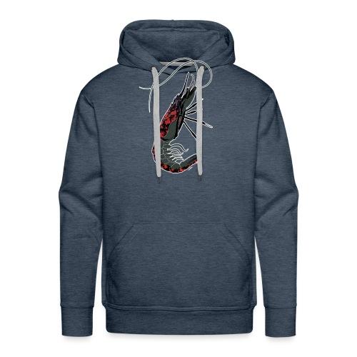 shrimp-U #splashedBlack - Felpa con cappuccio premium da uomo