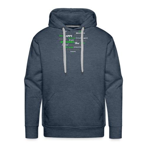hart met tekst groot.png - Mannen Premium hoodie