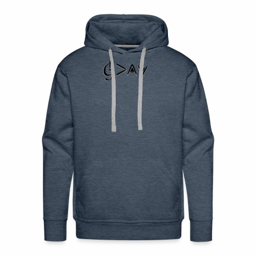God is greater - black - Men's Premium Hoodie