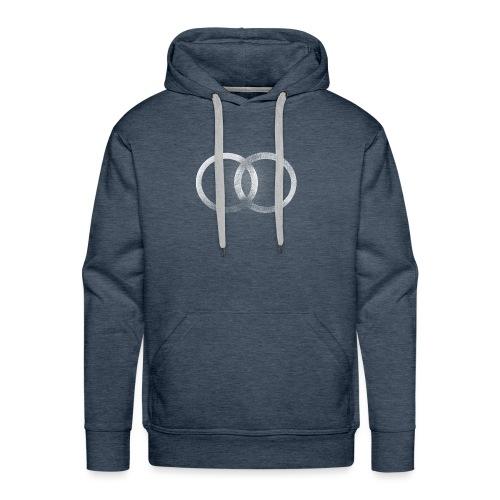 Símbolo abstracto de dos círculos unidos - Sudadera con capucha premium para hombre