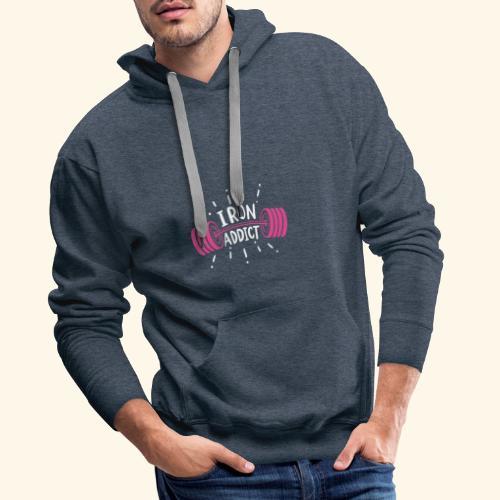 Iron Addict I VSK Funny Gym Shirt - Männer Premium Hoodie
