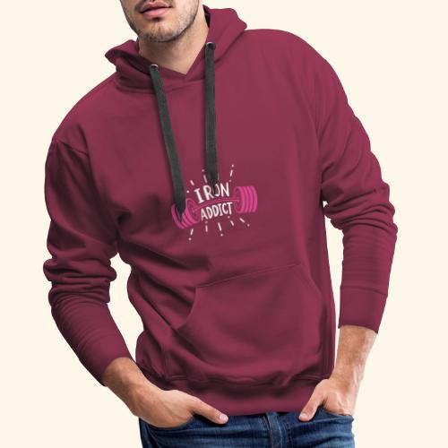 VSK Lustiges GYM Shirt Iron Addict - Männer Premium Hoodie
