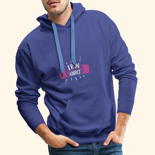 VSK Lustiges GYM Shirt Iron Addict - Männer Premium Hoodie