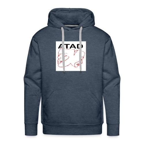 ATAD Logo mit ATAD Schriftzug auf weißem Quadrat - Männer Premium Hoodie