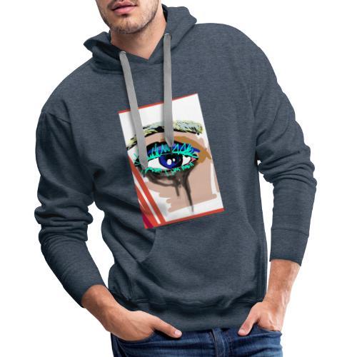 I see you! - Sweat-shirt à capuche Premium pour hommes
