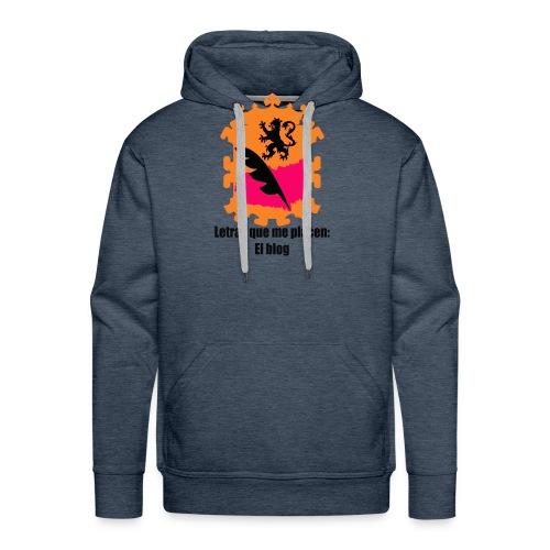 LQMP_escudo_naranja - Sudadera con capucha premium para hombre